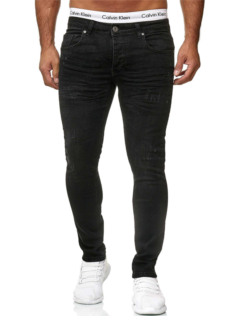 Jeans Damaged Slim Fit Dark