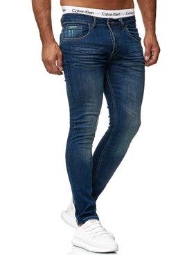 Jeans Basic Slim Fit Blauw
