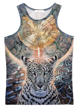 Tank Top White Panther