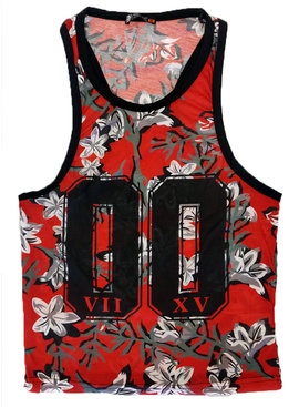 ReRock Tank Top Flowers 00 Red