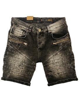 Korte Broek | Jeans | Ritsen | Grijs
