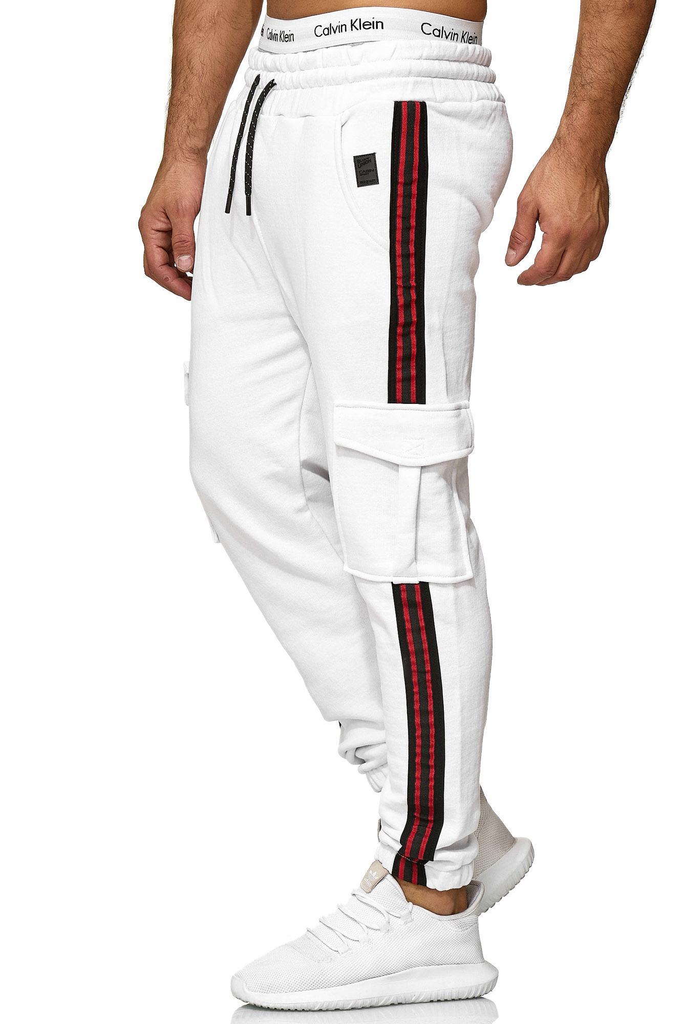 Joggingbroek Wit Slim-Fit Pocket