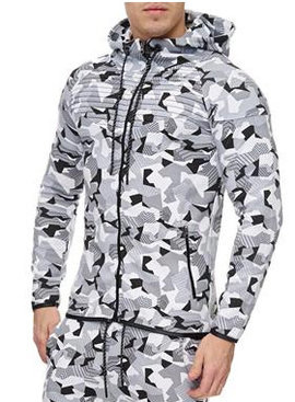 Trainingsjack Camo Wit (maat M)