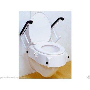 Russka® Toilettensitzerhöhung mit Armlehnen, höhenverstellbar