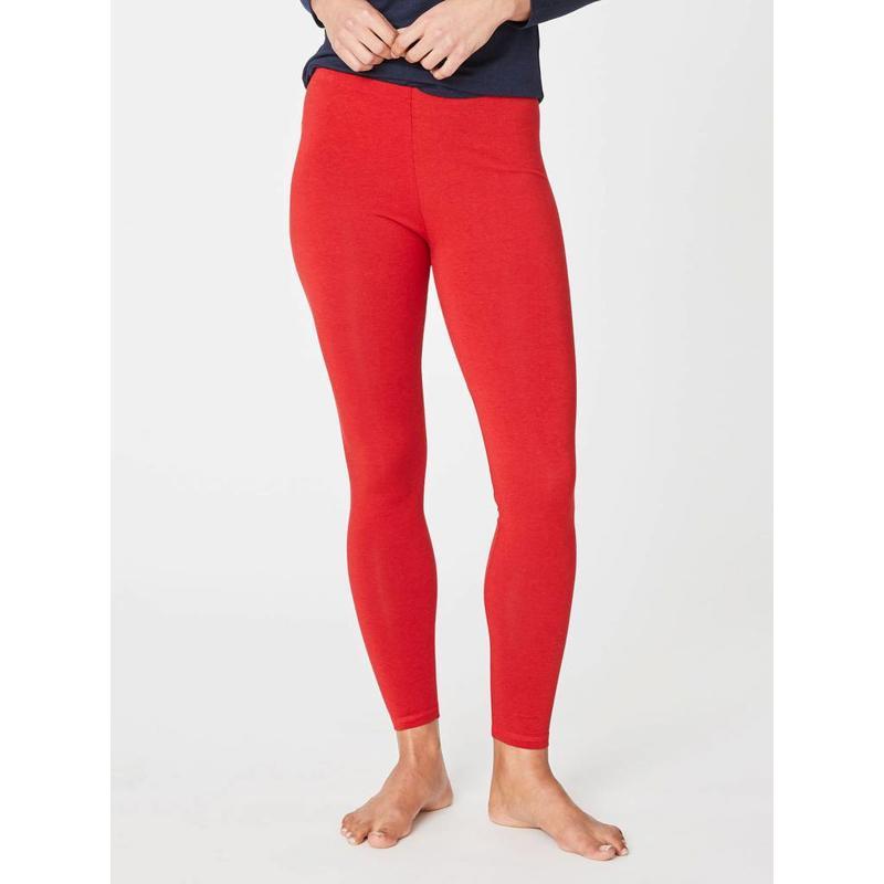 Basic Legging aus Bambus Viskose in der Farbe  Rot
