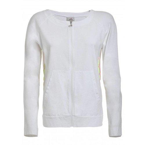 DEHA Full Zip Sweatshirt in der Farbe Weiss
