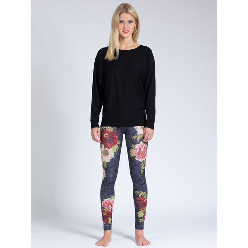 Magadi Yoga & Pilates Activewear Yoga Sweater Anna in der Farbe Schwarz