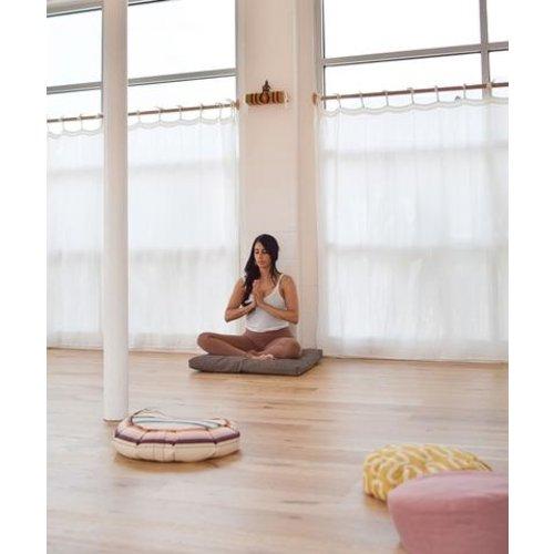 Halfmoon Yoga Yoga Kissen Halbmond in der Farbe Natural Leinen