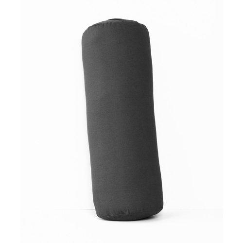 Halfmoon Yoga Yoga Bolster Rund in der Farbe Charcoal