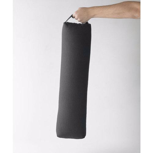 Halfmoon Yoga Yoga Bolster Prana schmal rechteckig  in der Farbe Charcoal