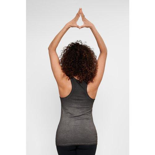 Urban Goddess Yoga Tank Top OM in der Farbe Off Black
