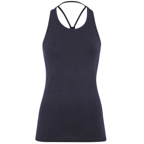 Mandala Fashion Extra Long Yoga Top in der Farbe Dark Indigo