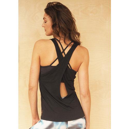 Kismet Yogastyle Kismet Yoga Top Aja in der Farbe Anthrazit