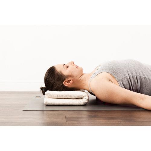 Halfmoon Yoga Yogadecke Cotton Yoga Blanket in der Farbe Stone Weave