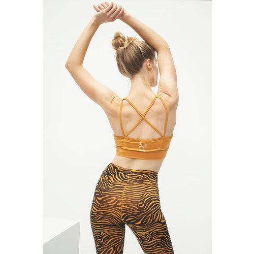 Kismet Yogastyle Rami Yoga Bra in der Farbe Desert Gold