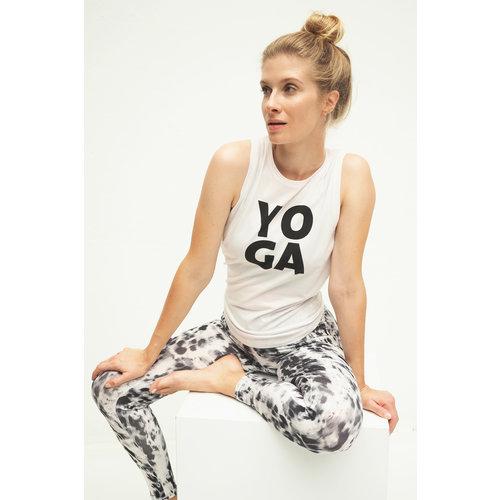 Kismet Yogastyle Shakti Tank Top mit Yoga Print Farbe weiss