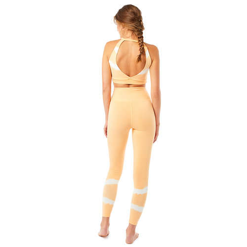 Mandala Fashion Yoga Batik Halterneck Bra in der Farbe TD Rosewood