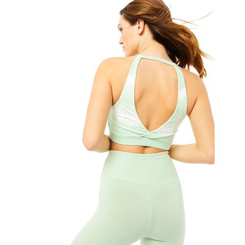 Mandala Fashion Yoga Batik Halterneck Bra in der Farbe TD Memphis Green