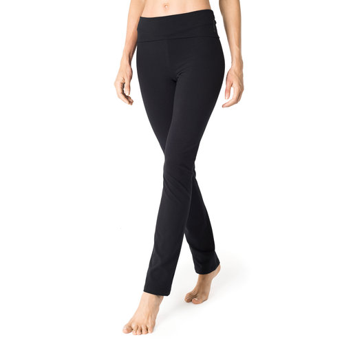 Mandala Fashion Classic Rolldown Yoga Pants in der Farbe Schwarz