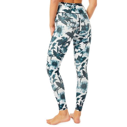 Mandala Fashion Fancy Print Leggings B&W Bloom