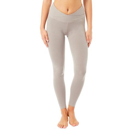 Mandala Fashion High Rise Wrap Yoga Legging in der Farbe Clay
