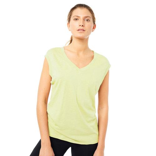 Mandala Fashion Easy V-Neck Shirt in der Farbe Yellow