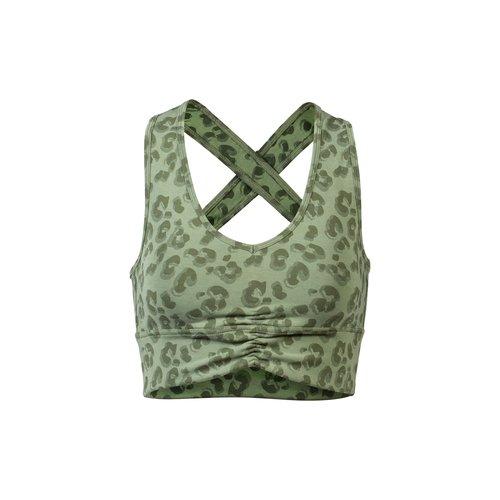 OGNX Yoga Cropped Top Leo in der Farbe grün