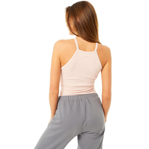 Mandala Fashion Yoga Top Ribbed Halterneck in der Farbe Shell