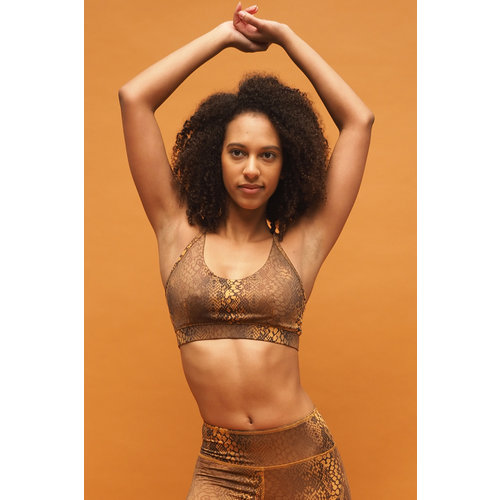 Kismet Yogastyle Amba Yoga Bra in der Farbe Desert Snake