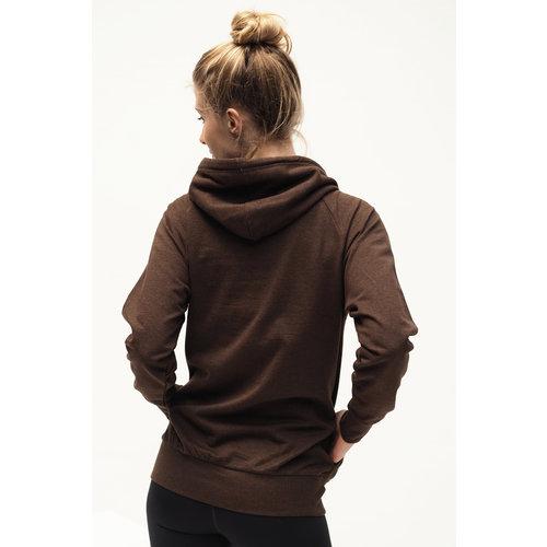 Kismet Yogastyle Rudra Yoga Hoodie in der Farbe Hazel Marl