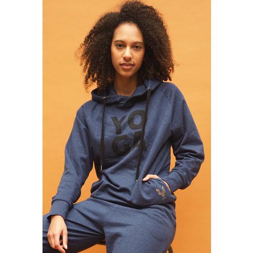 Kismet Yogastyle Rudra Yoga Hoodie in der Farbe Blue Marl