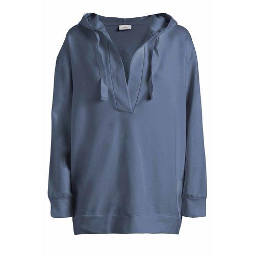 DEHA Comfort Long Hoodie in der Farbe Moonlight Blue