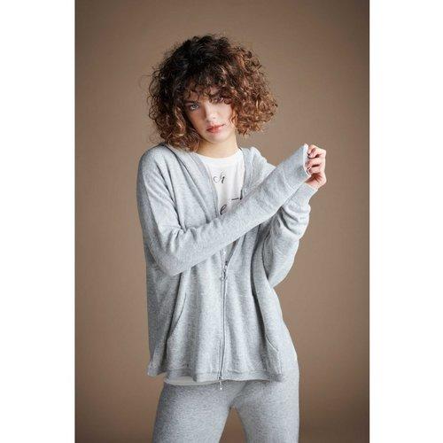 DEHA Yoga Luxe Knit Hoodie in der Farbe hellgrau