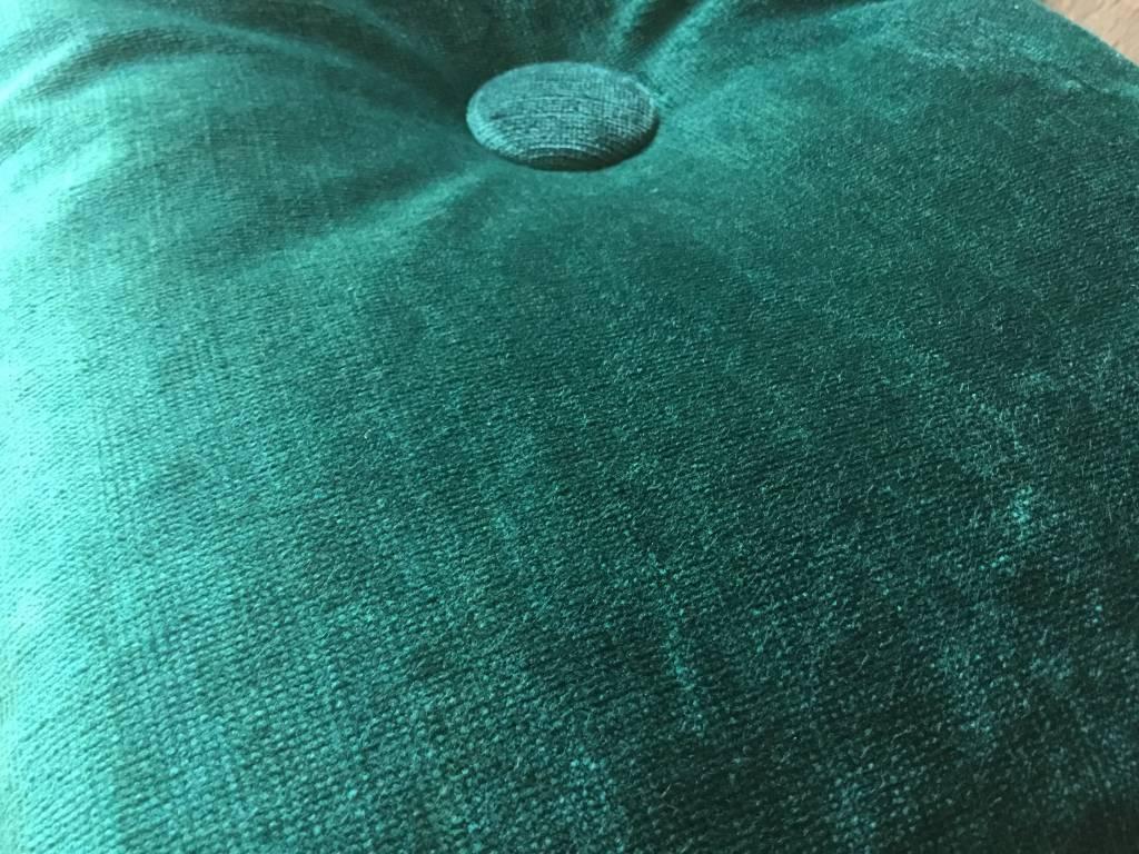 Groen Blauw velours kussen