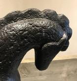 De Appelgaard Stenen paard op standaard zwart