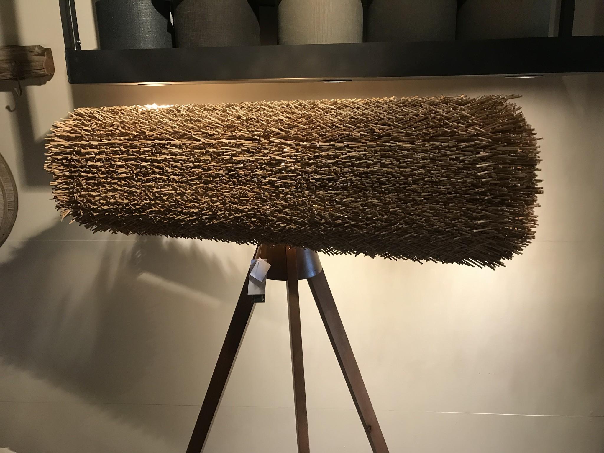 De Appelgaard Grote vloerlamp met riet