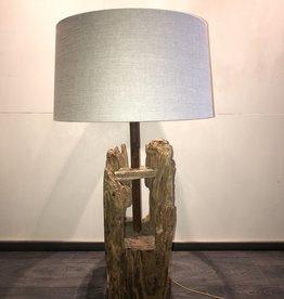 De Appelgaard Oude houten lamp