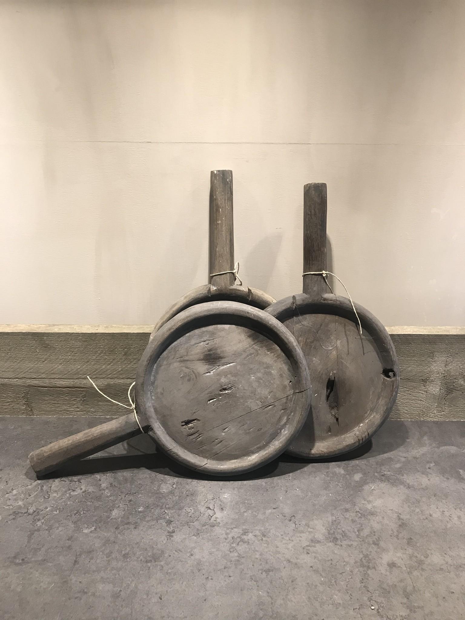 Houten bord grijs