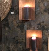 Wand kandelaar koper