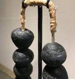 Zwarte kralen ketting