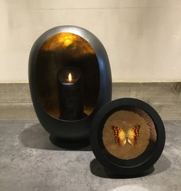 Kandelaar zwart/goud medium