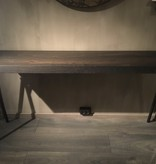 Side table eiken noir