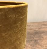 Velours lampenkap geel