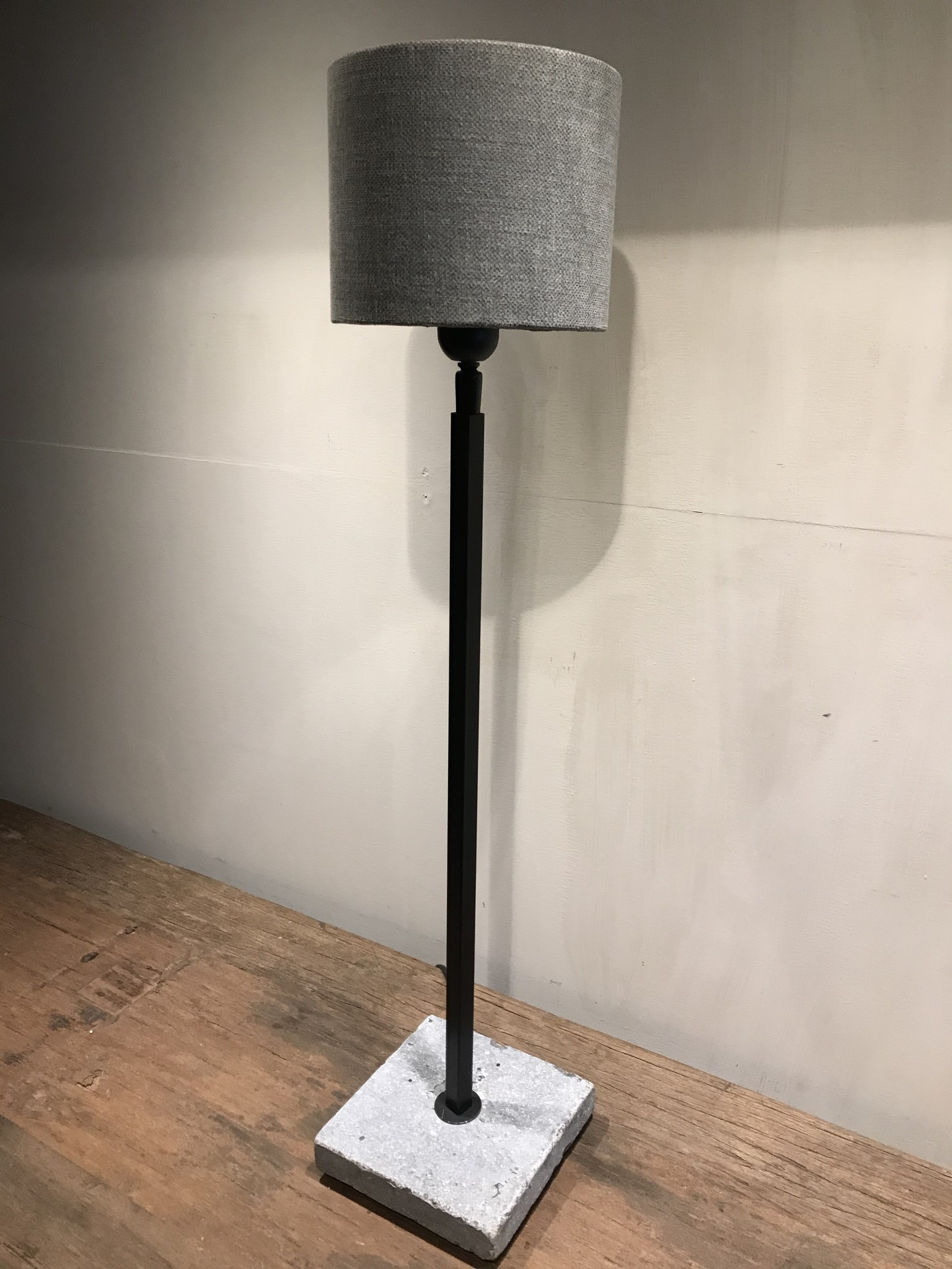 Lampenkap klein grijs