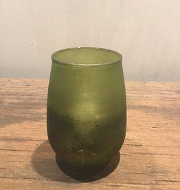 Waxinelichthouder groen klein