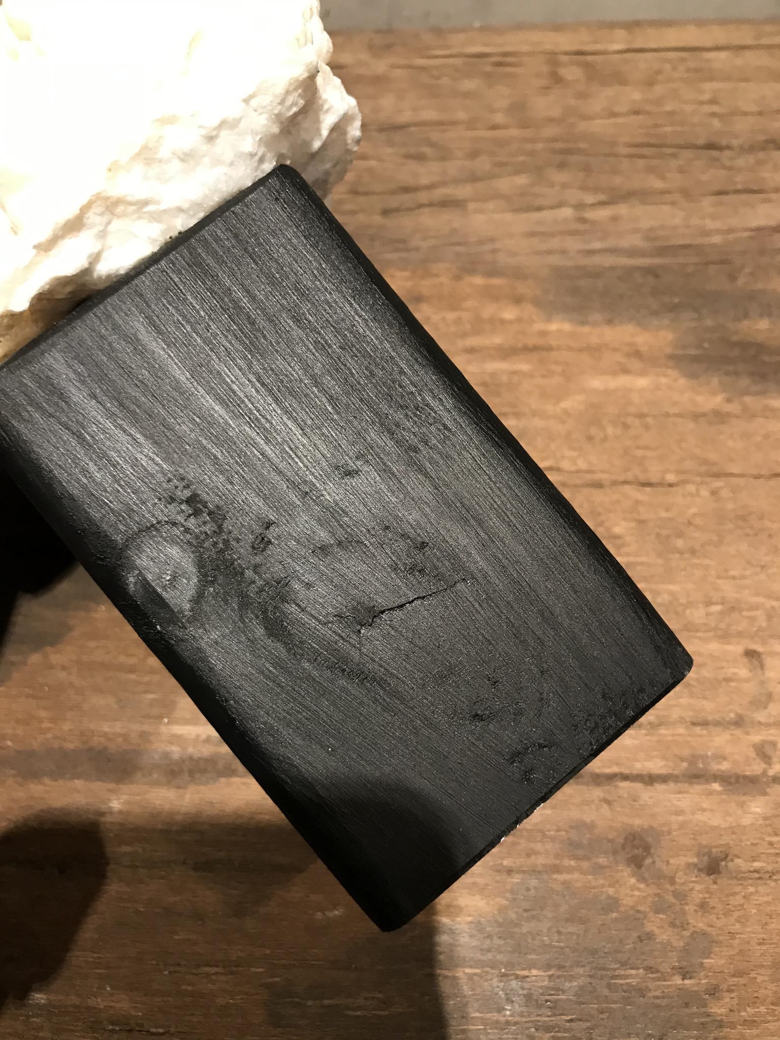 Stenen koraal op hout