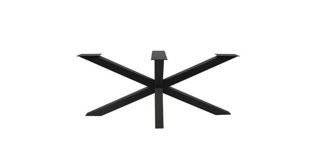 Zwarte ovalen tafel incl. Poot