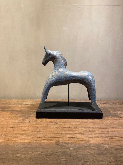 Hout paardje (Blauw)