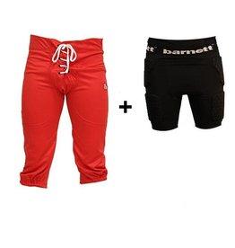 Kit Pantaloni da calcio americano + pantaloni di compressione (corte)