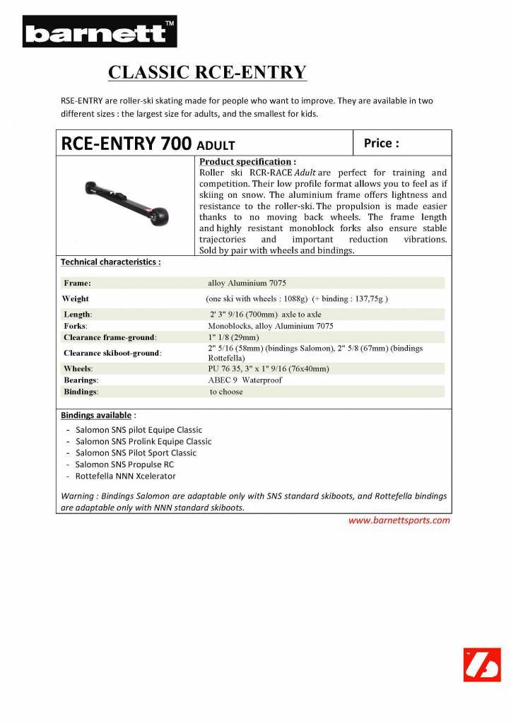 Skiroll RCE-ENTRY 700 per Adulti,  Aluminium